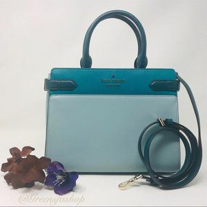 Kate spade staci medium satchel leather purse mint